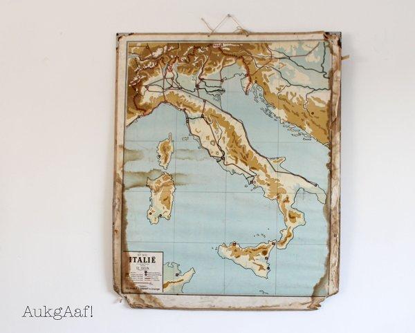 Oude landkaart Italië