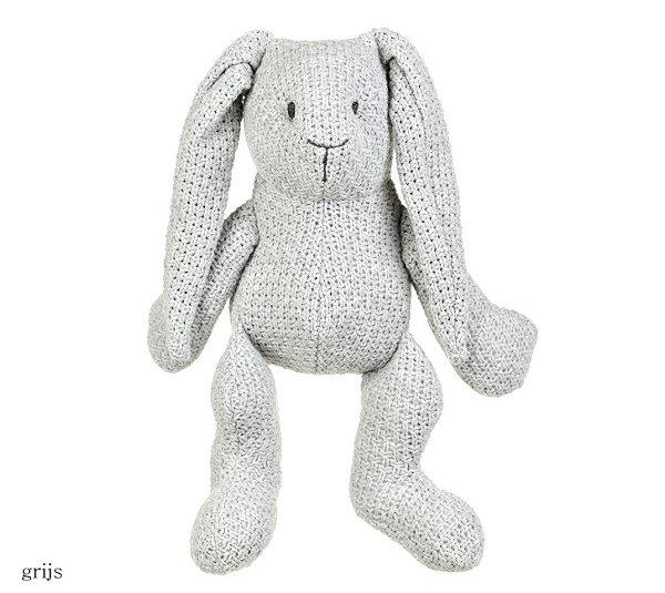 Baby's only konijn stoer grijs