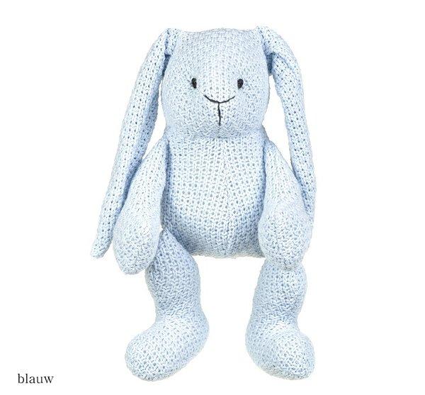 Baby's only konijn stoer blauw