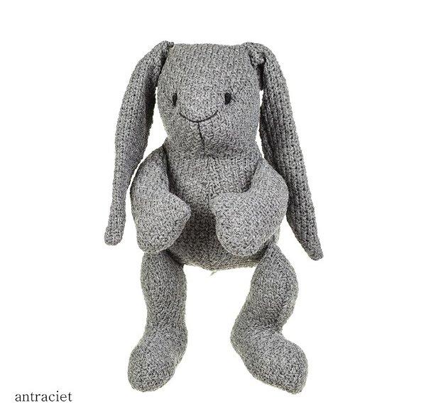Baby's only konijn stoer antraciet