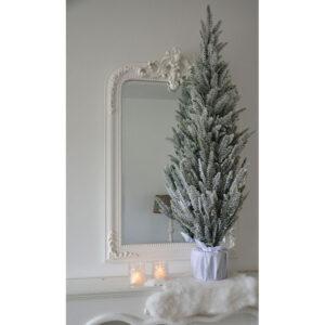 Witte brocante spiegel