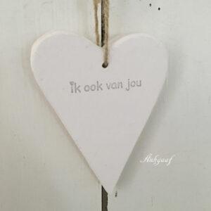 houten hartje 'ik ook van jou,wit''