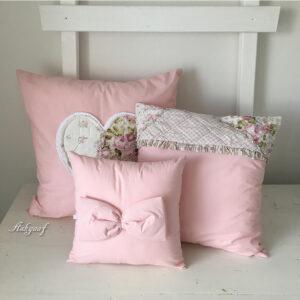 Roze kussens ''patchwork''