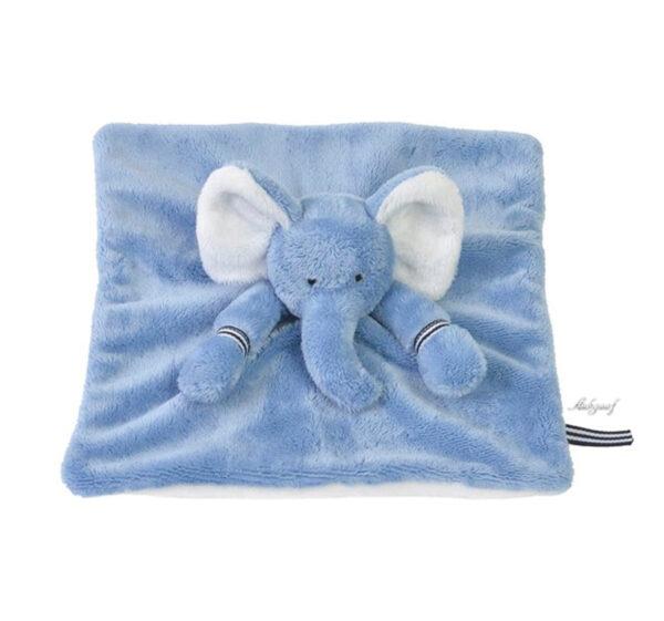 """Knuffel olifant Happy horse """"blauw"""" tutteldoekje"""