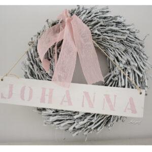 """Geboortekrans met naam """"Johanna"""""""