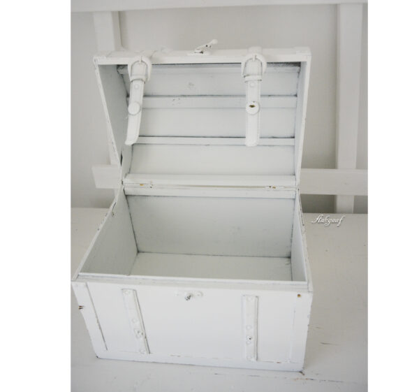 Witte brocante koffer ''Janet''