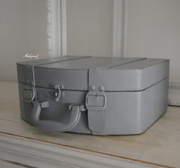 Grijze brocante koffer ''Bas''