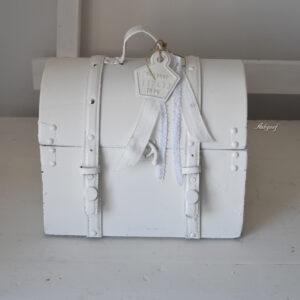 Witte brocante koffer ''Femke''