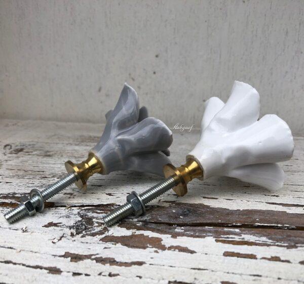 Grijze en witte bloem knoppen