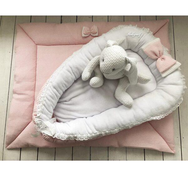 Babykamer aankleding roze wafel