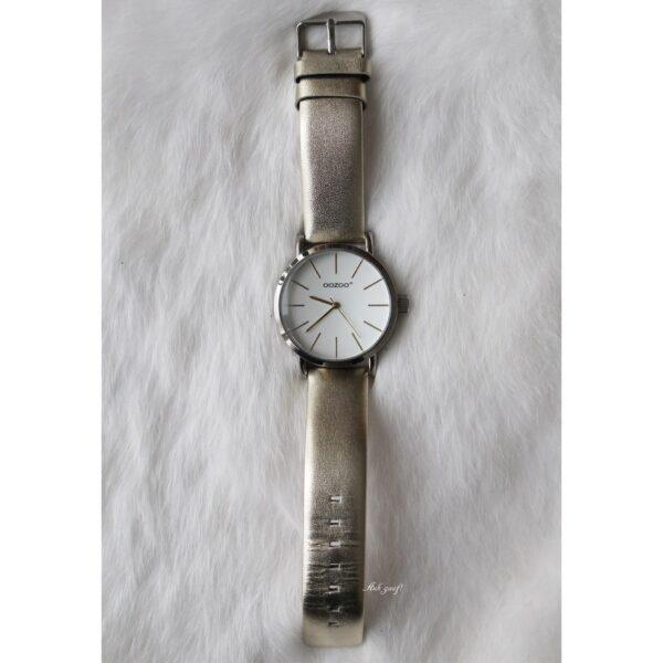 Oozoo junior horloge zilver met goud bandje