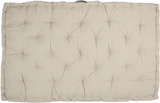 Clayre & Eef Palletkussen met foam 80*120*8 cm beige   KT039.001BE