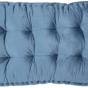 Clayre & Eef Palletkussen met foam 80*120*12 cm Blauw | KT039.006BL