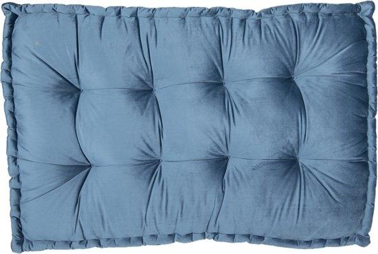 Clayre & Eef Palletkussen met foam 80*120*12 cm Blauw   KT039.006BL
