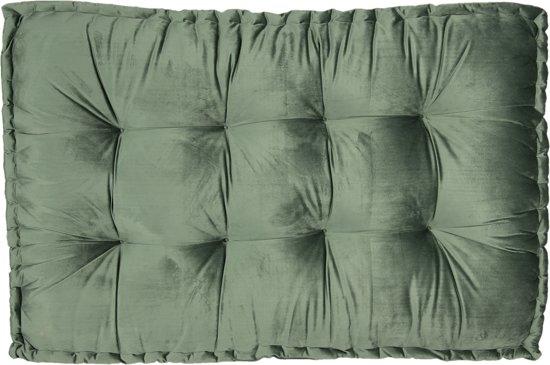 Clayre & Eef Palletkussen met foam 80*120*12 cm donkergroen | KT039.006DGR