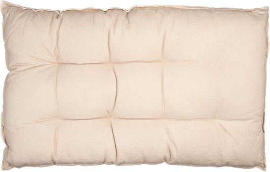 Clayre & Eef Palletkussen met foam 80*120*12 cm beige   KT039.007BE  