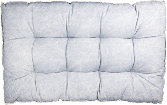 Clayre & Eef Palletkussen met foam 80*120*12 cm blauw   KT039.007BL  