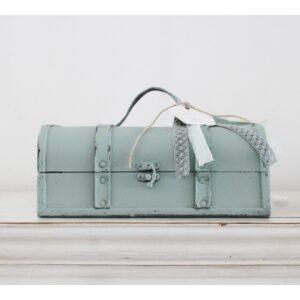 Brocante koffer dusty green ''Yves'' !.