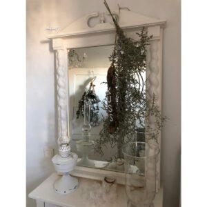 """Brocante witte spiegel """"Yente"""""""