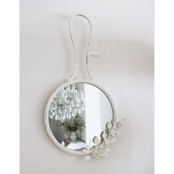 """Brocante witte spiegel """"Lucia"""" !."""